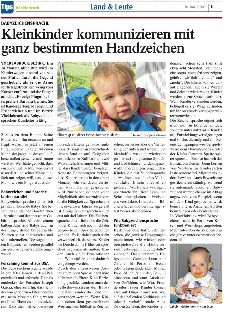 Kleinkinder kommunizieren mit ganz bestimmten Handzeichen - Tips Artikel